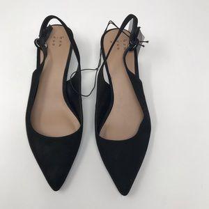 4ca0e18d812 a new day Black Meghan Kitten Heel Slingback's 6M NWT